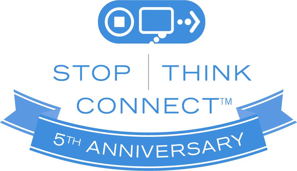 Stop. Think. Connect. 5th Anniversary Logo