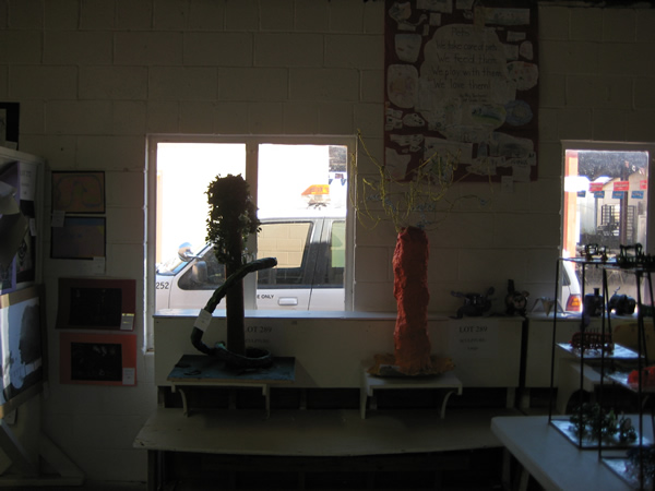 Picture of some of the art done by the students.