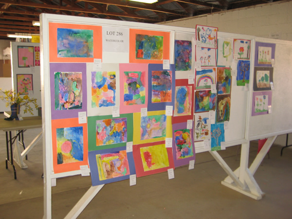 Watercolor paintings done by students.