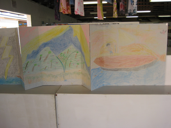 Art crafted by students.