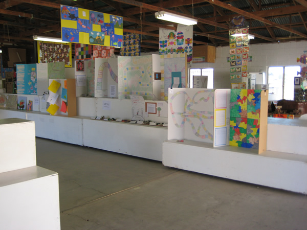 Picture of the numerous displays in the building.