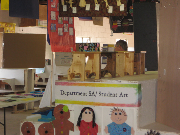 Wood work done by some students.
