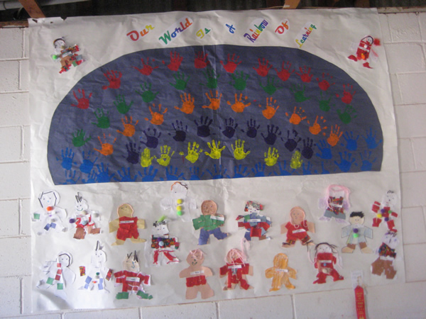 Hand made poster saying